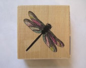 """Whispers Dragonfly Rubber Stamp Stencil Size 2.8"""" Length E613s"""
