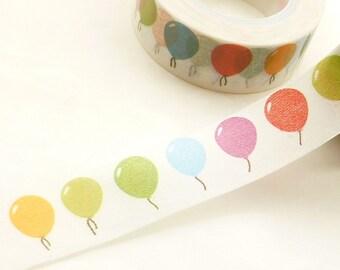 Colorful, Birthday Balloons Washi Tape - M571