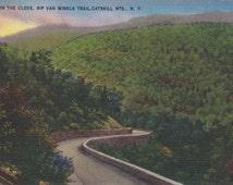 Vintage Antique Postcard - NEW YORK - Down the Clove, Rip Van Winkle Trail - Catskills - USED