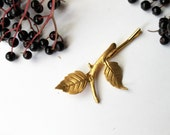 Gold Leaf Branch Bobby pin - woodland inspired hairclips, whimsical, grecian, nature