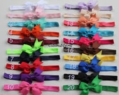 PICK 4 newborn headbands - 10% off newborn headband set - newborn girl headband - baby bow bands - bands for newborn - newborn baby girl
