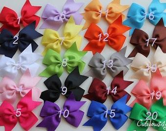 6 bows for girl - 10%off - sale hair bow -  hair bows - Girls hair bows - medium bow  - toddler bow - girl bow - hair - baby hair - girl