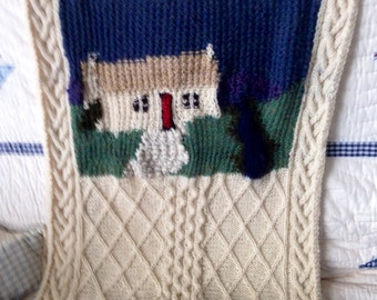 Custom designed knit items, able to transfer images to knitted works of art