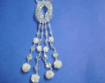 JEWELS of ELEGANCE  BY G Sherman Crystal Necklace -  Signed Jewels of Elegance -  Unused  with Original Label