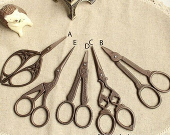 Vintage Theme Antique Design Sewing & Embroidery Thread Scissors Victorian Style-  6 style available