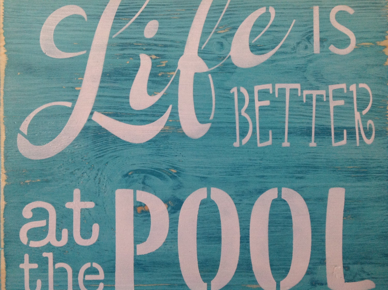 life is better at the pool wood primitive sign patio decor - Patio Gift Ideas