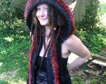 Custom Magick Creature Spirit Hood, Pixie Hood Elf Hood Faerie Hood Snood Hooded Scarf