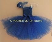 Royal Blue Tutu Dress, BirthdayTutu  Dress, Toddler Party Dresses
