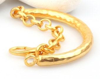 Bracelet Bar, 22k Gold Plated, 1 piece // GFND-051
