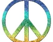 Peace Symbol Rainbow Counted Cross Stitch Pattern Chart PDF Download by Stitching Addiction