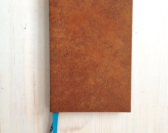 Journal: Notebook, Brown, Fuzzy, Fabric, Bound, Hand Sewn, Gift, Unique, Wedding, One of a Kind, For Her, For Him, Blank, Unlined