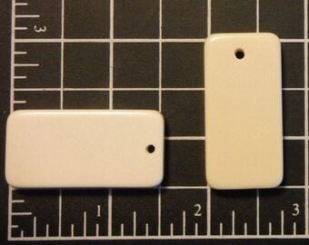Medium Pre-Drilled Dominoes, Blank Pendant