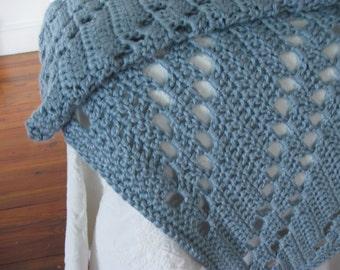 Afghan Crochet Afghan - Crocheted Afghan, Crochet Blanket, Crocheted Blanket, Hand Crochet Afghans, Warm Blanket, Soft Blanket,Bulky Blanket