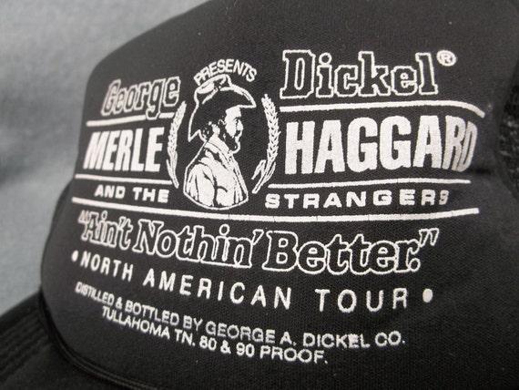 Merle Haggard Tour Cap Trucker Cap George Dickel All