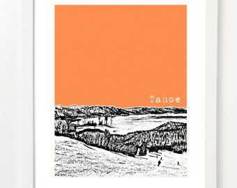 Tahoe Art Print  - Lake Tahoe California - Tahoe Ski Resort - Tahoe Gifts