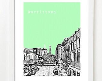 Morristown Tennessee Art Print - Morristown, TN City Skyline Poster - Morristown Gift