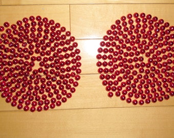 "Bead Garland - 2 Plastic Bead Garland Strings 94"" Long, 3/8"" Bead Diameter, Crafts, Wreaths, Centerpieces, Valentine Decor"