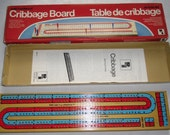 Vintage Game - Cribbage - Solid Hardwood, Continuous 2-Track - Playtoy 1985