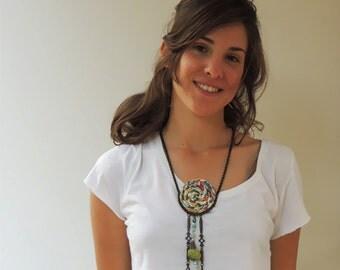 Ecofriendly Woman's handmade pendant necklace.
