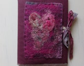 Removable fabric and handmade felt A5  journal/ notebook cover