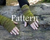 Pdf knitting pattern - dark forest mittens - Listing18