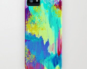 SUGARY GOODNESS Pastel Ikat iPhone 4 5 SE 6 6s 7 Plus Case Samsung Galaxy Cell Phone Cover Abstract Watercolor Chevron Painting Ocean Waves