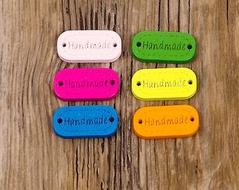"""wooden buttons (6 pz) """"handmade"""""""