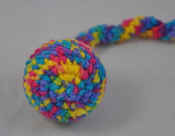 Star Brights Hand Crocheted Jingle Ball Snake Cat Toy