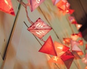 Paper Lantern Garland - DESERT SUNSET - handmade light garland with the colors of the american southwest