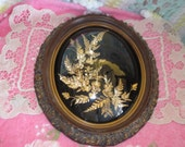 Flora Hawaii / Hawaiian Leaves and Flowers 24 karat gold Wall Hanging / Not Included in Sale New listing