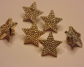 6 piece twinkle star button mix, 15 mm (B4)