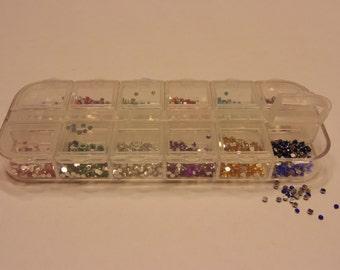 3000 piece flat back rhinestone nail art box, 2 mm (S4)