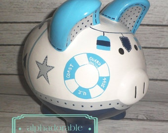 Sailboat piggy bank etsy - Nautical piggy banks ...