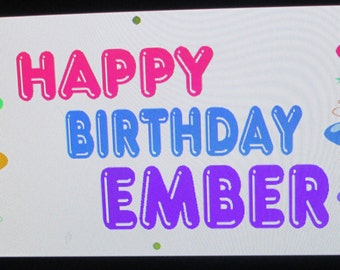 Custom Balloon Birthday Banner, 2ft x 6ft