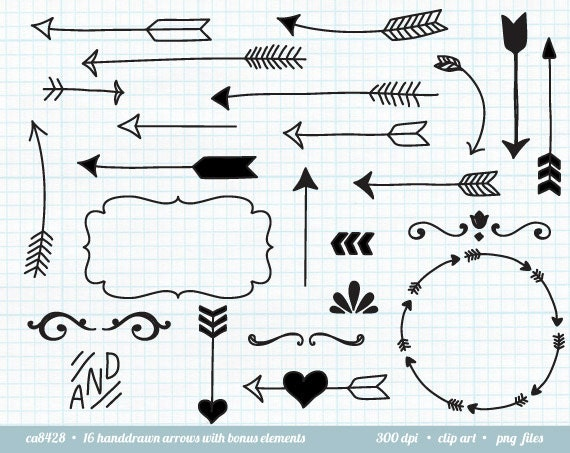 Decorative Arrow Clip Art Arrow Clip Art Tribal Arrow