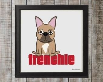 French Bulldog, Fawn Illustration