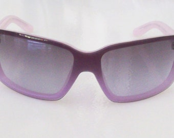 Vintage Polo by Ralph Lauren RALPH 7567/S TT5 Lavender Sunglasses Sporty Mask Silver metal Logo, Come with original Case. MINT.