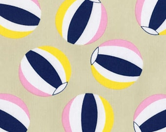 Dear Stella fabric BEACH BALLS on Sand