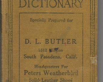 Vintage 1926 Webster's Ever Ready Dictionary Promotional Item