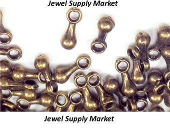 50pcs-2.5x7mm antique brass tiny charms, earrings