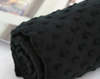 Minky Dimple Dot - Black - By the Yard 43057 Melody Series