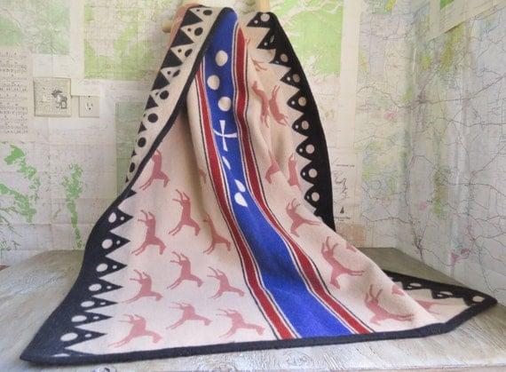 Vintage Pendleton Wool Horse Blanket