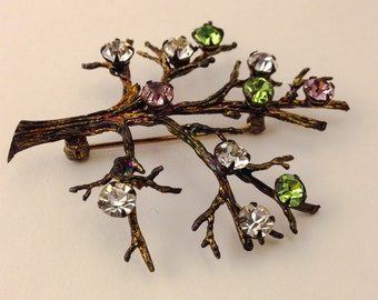 Vintage Sterling Branched Brooch