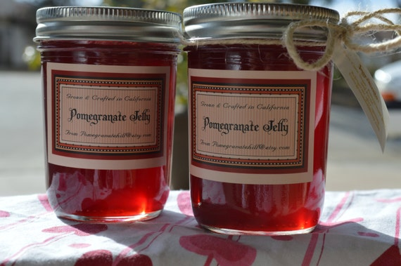 Pomegranate Jelly   -  TWO 8 ounce Jars