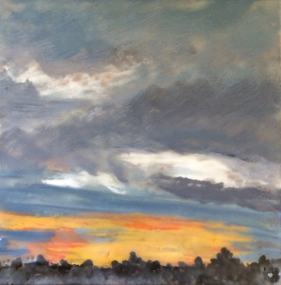 www.etsy.com/listing/197169171/tuesday-sunset-6x6-original-encaustic