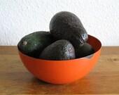 Vintage Red/Orange Enamel Bowl