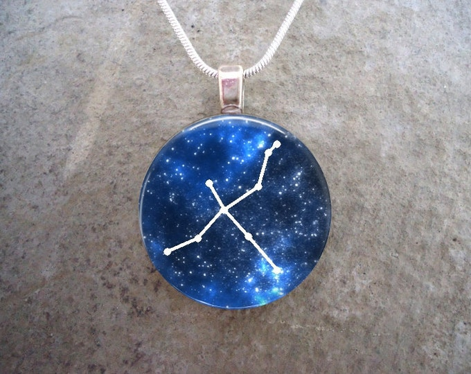 Constellation Cygnus - Astronomy Jewelry - Glass Pendant Necklace