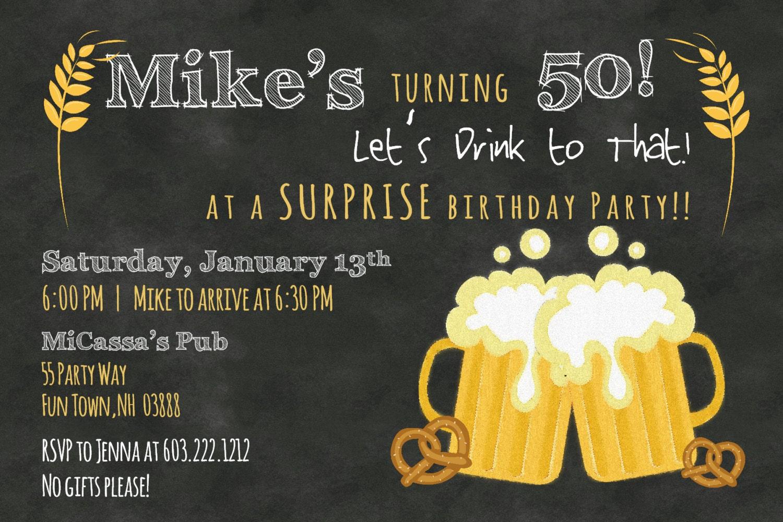Free Printable Surprise Birthday Invitations | DolanPedia ...