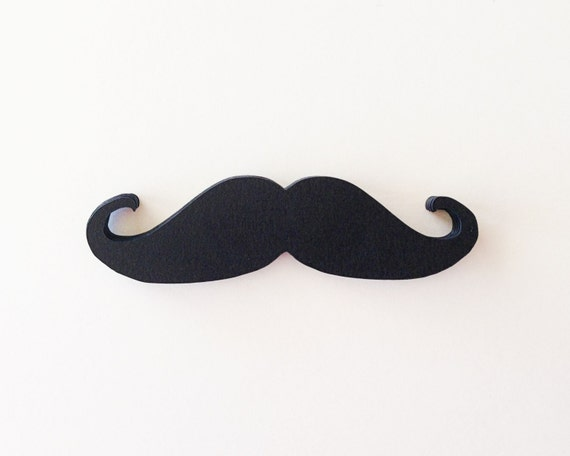 Black Mustache - 4 Inch Cardstock Die Cuts - Photo Prop, Wedding, Birthday, Baby Shower, Gender Reveal, Bachelor Party. Fathers Day.