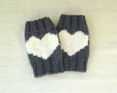 Yoga leg warmers, knitted boot cuffs, heart leg warmers, shoes accessories, gift for her, valentines gift